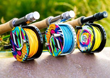 Vibrant Fishing Equipment - Mondo Fly Fishing Rod's Feature Vibrant Colors and Dynamic Designs