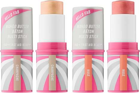 Cream-to-Powder Highlighting Sticks