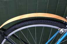 Wooden Bicycle Guards
