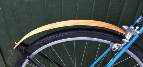 Wooden Bicycle Guards - The 'yeWood' Bike Guard Offers Stylish Protection from Mud and Rain