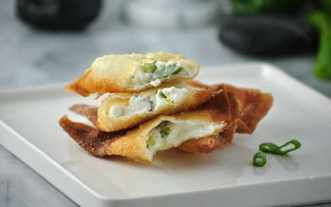 Asian-Style Jalapeno Poppers - This Jalapeno Popper Recipe Features a Wonton Casing