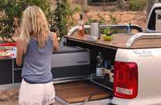 Space-Saving Tailgating Accessories - This Slide-Out Kitchen is Designed For Camping and Tailgating