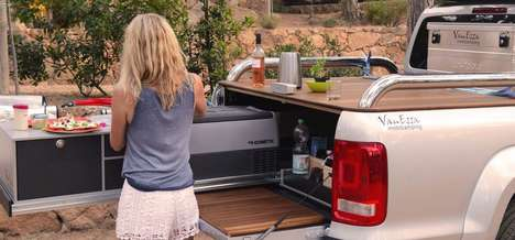 This Slide-Out Kitchen is Designed For Camping and Tailgating
