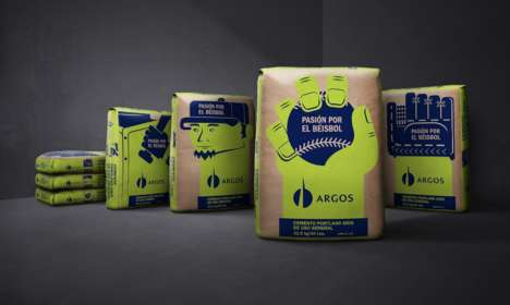 Baseball-Branded Concrete - Argos Cement Appeals to the Personal Interests of Construction Workers