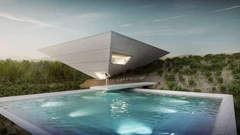 Upturned Pyramid Homes - This Holiday House Takes Harsh Geometries Amidst a Mountainous Landscape