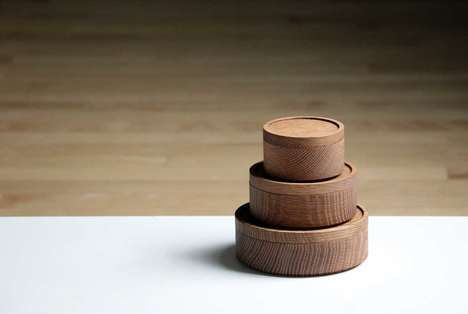 Stacking Wooden Canisters