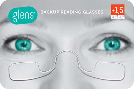 Supremely Compact Spectacles - Glens Backup Glasses Fold Up Into a Credit Card Sized Case
