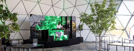 Modular Video Walls - LEDskin is a Compact, Portable Component Making Up Big Screens in Multiples