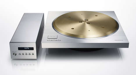Luxe Record Players - This Technics Turntable is a 1970s Nod Served Up With a 7kg of Brass Platter