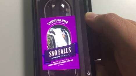 AR Beer Labels - This Snoqualmie American Pale Ale Boasts an Interactive Label