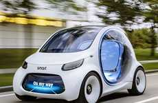 Futuristic Carsharing Concepts - The Smart Vision EQ Concept EV is Self-driving and All-electric