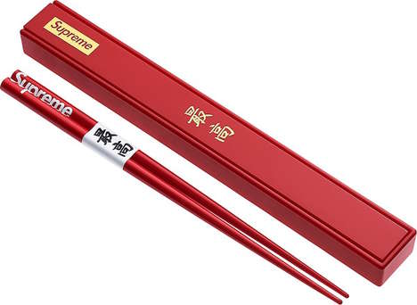 Streetwear Brand Chopsticks - Supreme Released a Chopstick, Sake and Bowl Set with a Matching Box