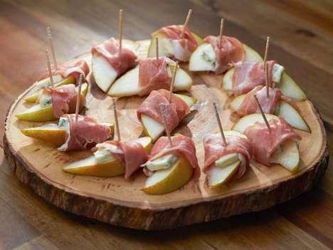 Prosciutto-Wrapped Pear Slices
