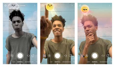 Emotive Weather Filters - These Instagram Face Filters Use the Weather to Reflect One's Mood