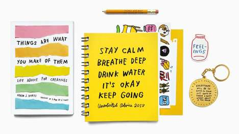 Uplifting Pocket Planners - 'Unsolicited Advice' is an Agenda Filled with Encouraging Words