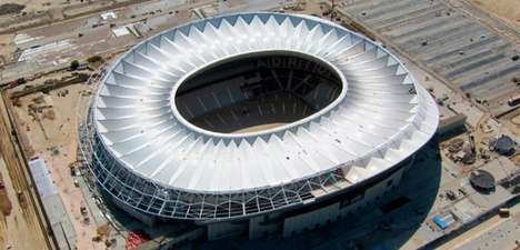 Expansive Spanish Soccer Stadiums - The 'Wanda Metropolitano' is Spain's Newest Soccer Stadium