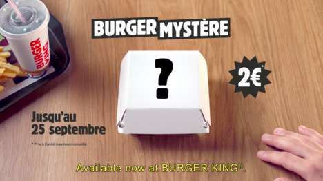 Mystery Burger Boxes - In France, Burger King Now Lets Customers Leave Their Order to Chance