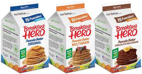 Frozen Batter Cartons - Revolution Foods' 'Breakfast Hero' Introduces Ready-to-Thaw Batter