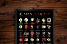 Japanese Delicacy Posters - This Food-Themed Poster Shares 42 Specialties Across Japan
