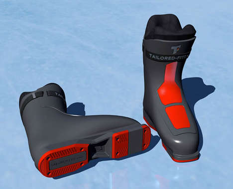3D-Printed Ski Boots - Materialise and Tailored Fits AG are Creating Custom-Fit Sports Boots