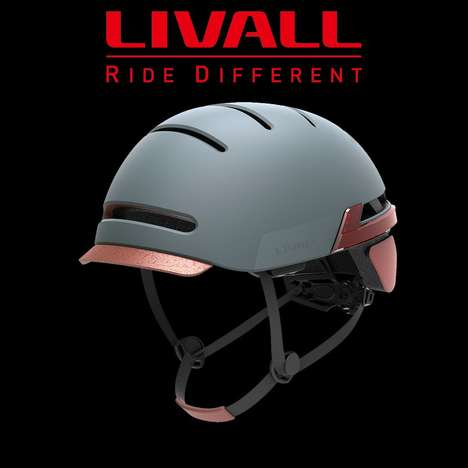 Smart Cycling Helmets - The Livall BH51 Smart Helmet Sense When Riders Break or Turn