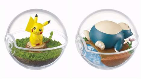 Anime-Inspired Terrariums - These Pokémon Terrariums Encourage Collectors to Catch Them All