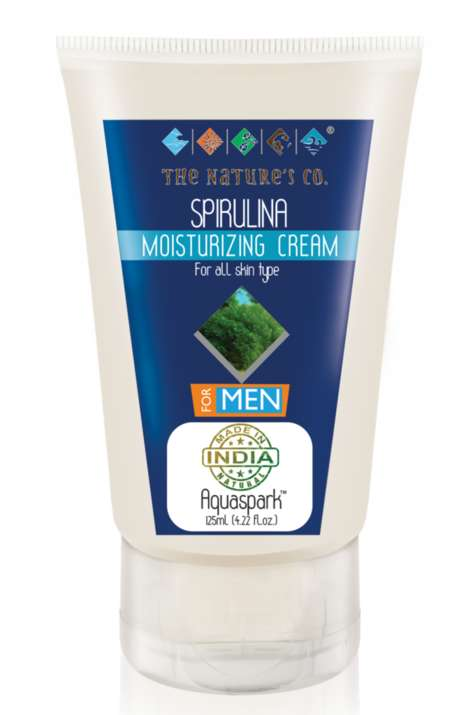 Men's Spirulina Skincare - The Nature's Co. Spirulina Moisturizer Hydrates With Natural Ingredients