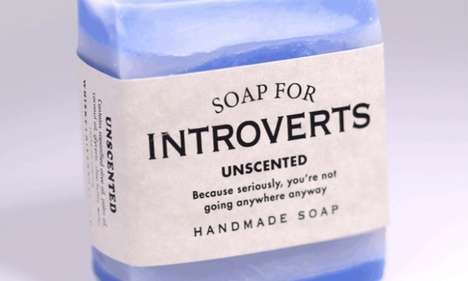 Novelty Introvert-Inspired Scents - 'Soap for Introverts' is an Unscented Novelty Bathroom Companion
