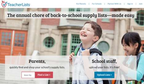 Streamlined Supplies Sites - TeacherLists Makes It Easy to Get Ready for the Back-to-School Season