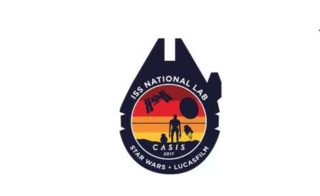 Sci-Fi Space Station Patches - The 2017 CASIS Mission Patch Features Star Wars Characters