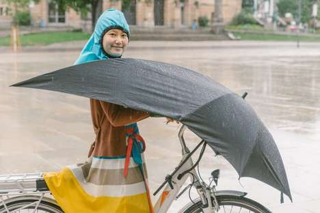 Integrated Bicycle Umbrellas - The Under Cover Umbrella is a Godsend For All-Weather Cyclists
