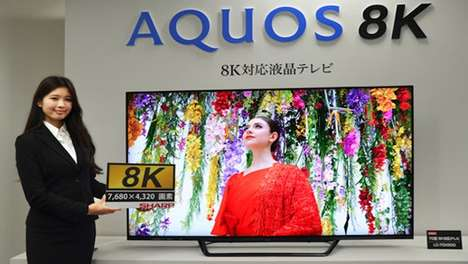 Magnificent 8K TVs - The Crystal-Clear Sharp Aquos Series Quadruples the Pixel Count Of 4K TVs
