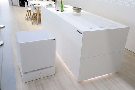 Movable Refrigerator Concepts - This Ambulatory Smart Fridge Can Bring Your Drinks To You