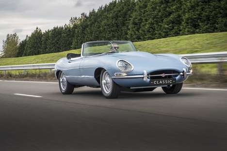 Retro-Styled Electric Cars - The Jaguar E-Type Zero Looks Like a Model From the 1960s