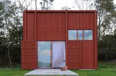 Boxy Red Cabins