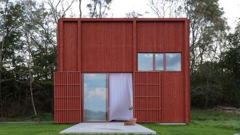 Boxy Red Cabins - 'Spackhuggaren' is a Quaint Cabin for an Avid Sailor and His Family
