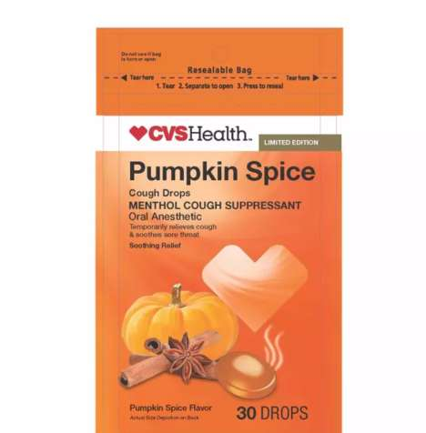 Spiced Pumpkin Cough Drops - CVS Health's Cough Suppressant Drops Adopt an Autumnal Flavor