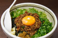 Soupless Ramen Bowls - Menya Hanabi's Soupless Ramen is Served without Broth