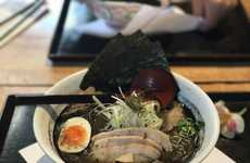 Charcoal-Infused Ramen Dishes - Vancouver's Motomachi Shokudo Serves a Unique Bamboo-Charcoal Ramen