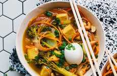 Carrot-Based Noodle Bowls - This Detoxifying Vegetarian Ramen Recipe Features Carrot Noodles