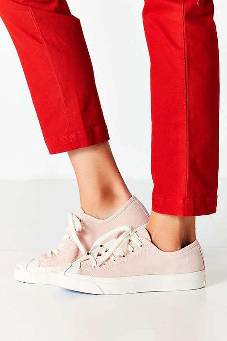 Nostalgic Millennial Pink Sneakers