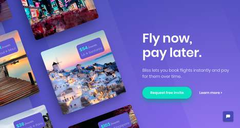 Payment-Delaying Travel Apps - Bliss Finds You Cheap Airfare and Lets You Pay For It Later