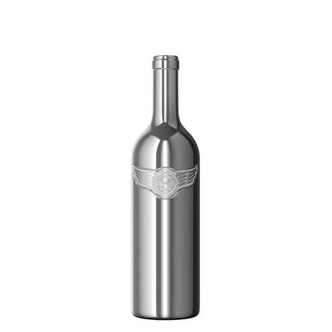 Metallic Wine Bottles
