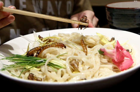 Insect-Infused Noodle Dishes - Japan's Ramen Nagi Serves 'Insect Tsukemen' with Crickets & Mealworms