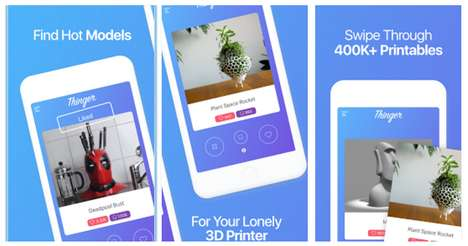 Discoverable 3D Printing Apps - The Thinger App Helps You Discover and Download 3D Printing Models