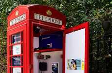 Single-Person Car Dealerships - This Peugeot Phone Booth Features an Online-only Showroom