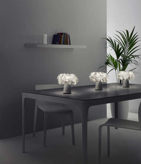 Ambient Floral Lighting - The Clizia Tabletop Bouquet Appears as an Elegant Floral Arrangement