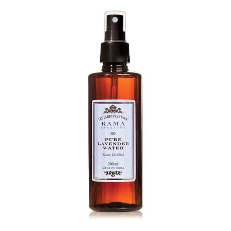 Balancing Lavender Toners - Kama Ayurveda's Pure Lavender Water is a Gentle After-Shave Remedy