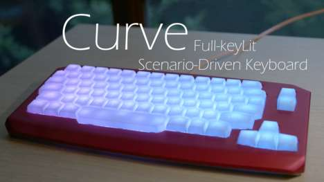 Conveniently Illuminated Keyboards - The Curve Keyboard Illuminates Keys Based Different Programs