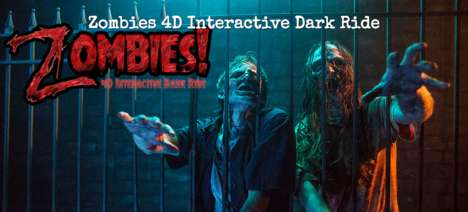 4D Halloween Roller Coasters - The Zombies 4D Interactive Dark Ride is a Terrifying Attraction